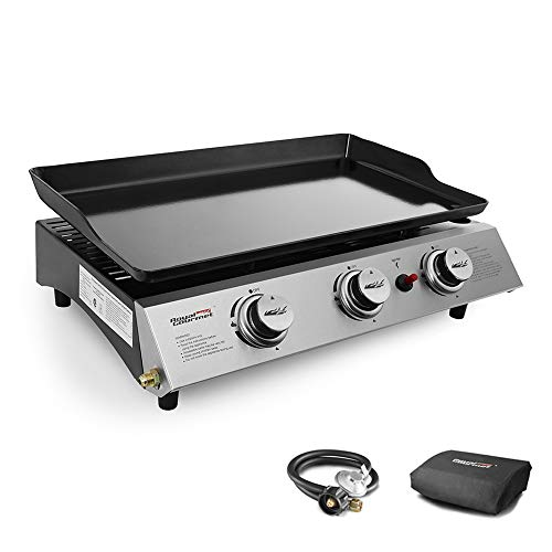 Royal Gourmet PD1300 Portable 3-Burner Propane Gas Grill Griddle,Black