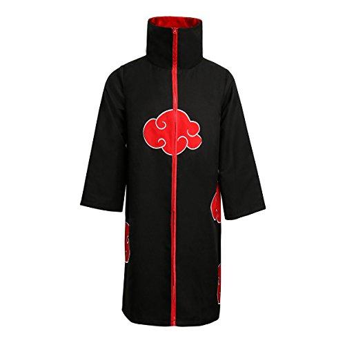 NUWIND Unisex Akatsuki Itachi Cloak Gown Cosplay Disfraz Collar Bata Anime para la Fiesta de Halloween (L)