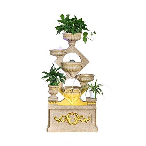 Europäische Stil Wasserpumpe Brunnenboden Rockiger Brunnenwasser Dekoration Lucky Windrad Fischtank Wohnzimmer Veranda Großen Wasser Befeuchter,Gold