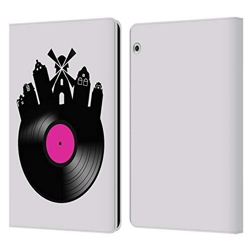 Officiële Mark Ashkenazi Amsterdam Muziek Lederen Book Portemonnee Cover Compatibel voor Huawei MediaPad T3 10