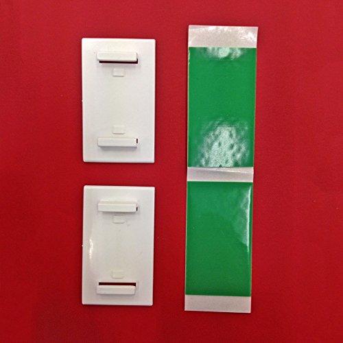 Easy-Shadow - 4 Stück Klebeplatten Träger selbstklebend für Duo-Rollos / Klemmfix-Rollos / Rollo / Verdunkelungsrollo / Easyfix-Rollo - Klebehalter Platte für Fensterrahmen Fensterflügel Montage ohne Bohren - weiß