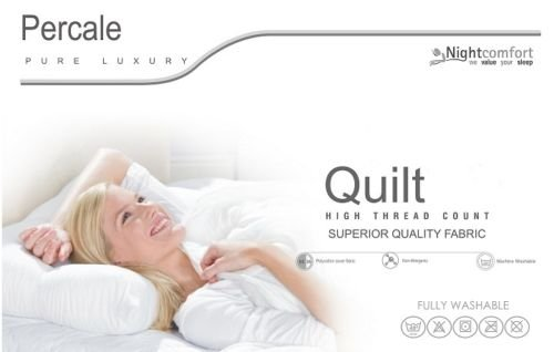 MHG Textiles Hollowfibre Percale High Loft Duvet King Size 7.5 Togs