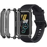 Carcasa compatible con Haiwei Honor Watch ES 42 mm Funda, Flexible, TPU Protectora Resistente a los arañazos Funda para Honor ES 1.64 Pulgadas (Negro & Negro)