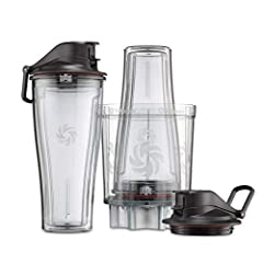 The personal cup adapter works with your legacy-series Vitamix Machine to make individual blends or quickly chop ingredients for any recipe. Two dual-purpose 20-ounce blending containers become Travel Cups with spill-proof lids Dishwasher-safe compon...