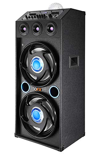 """QFX SBX-412207BTBL Bluetooth Speaker with dual 12"""" woofers"""