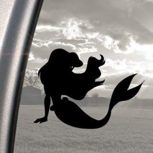 Disney-Kleine Meerjungfrau Ariel schwarz, Aufkleber Autoaufkleber