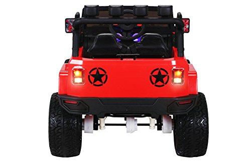 RC Auto kaufen Kinderauto Bild 5: Actionbikes Motors Kinder Elektroauto Wrangler Offroad Jeep ALLRAD 2-Sitzer 4 x 35Watt 2x10AH Batterie Eva Reifen 4x4 (Rot)*