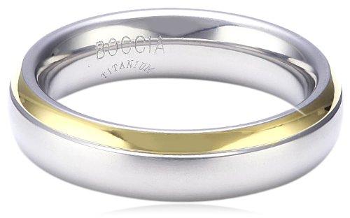 Boccia Damen-Ring teil-goldplattiert Titan GR.61 0130-0861