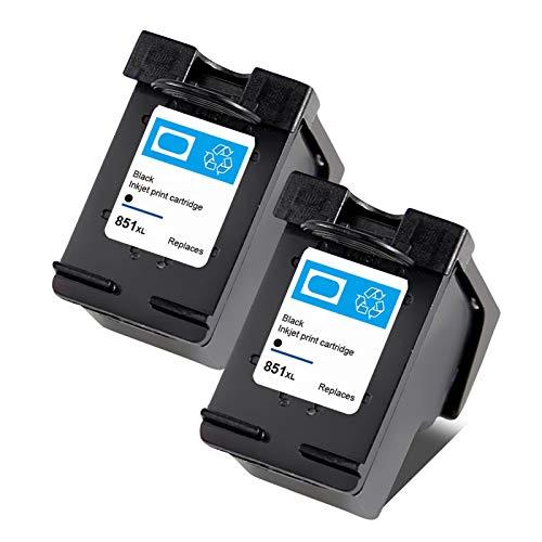Cartuchos de tinta 851 855, cartucho de reemplazo para HP 7108 4168 6318 D5168 Cartuchos de impresora de inyección de tinta de alto rendimiento negro y color Black