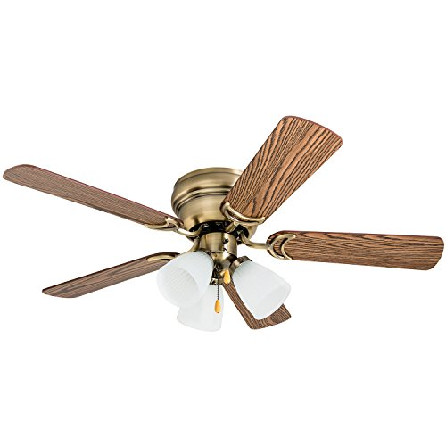 Prominence Home 50861 Whitley Hugger Ceiling Fan with 3 Light Fixture, 42' LED Indoor...