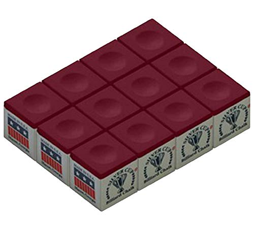 Silver Cup Chalk, Burgundy, 12-Piece Box