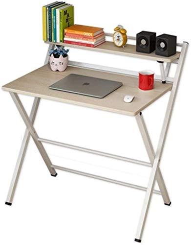 Office Life Desks Tisch Computer Desktop Einfacher Klapptisch Studiertisch Simple Home Student Office Multifunktionaler Tisch (Farbe: Braun, Abmessungen: 83,5 44,5 92 cm) (Farbe: Braun, Größe: 83,5