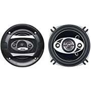 BOSS Audio Systems P45.4C 4 Inch Car Speakers - 250 Watts of Power Per Pair, 125 Watts Each, Full Range, 4 Way, Sold in Pairs