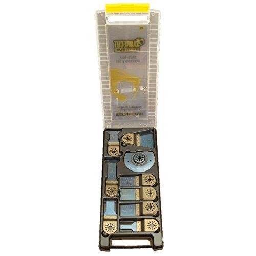 19 x SabreCut BB_PRK19 Premium OMT Mix Blades Case Set for Bosch Fein (Non-StarLock) MultiMaster Makita Milwaukee Genesis Chicago Craftsmen Nextec Rockwell Ryobi Hitachi Multi Tool Accessories
