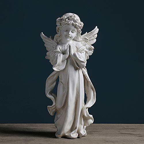 Angel Wings Beeldje Beeldhouwwerk, Ornament Huwelijkfeest Valentijnsdag, Eerste Kerstdag Church Decoration Gift, Witte