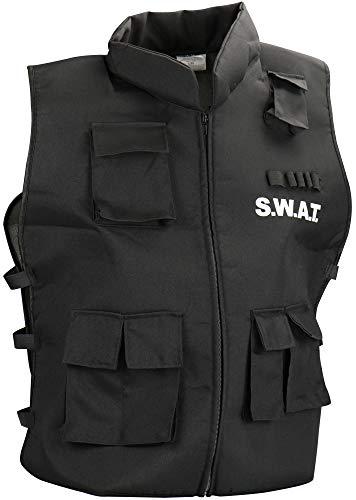 com-four® S.W.A.T. Weste für Erwachsene - Ideal für Kostüme, Fasching, Karneval, Halloween oder Junggesellenabschied (01 Stück - SWAT Weste)