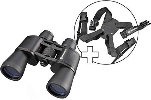 BRESSER 7x50 Sniper Porro Fernglas für Vogelbeobachtung, Wandern, Jagd, Sightseeing, inkl. Tragetasche und extra Komfort-Tragegurt