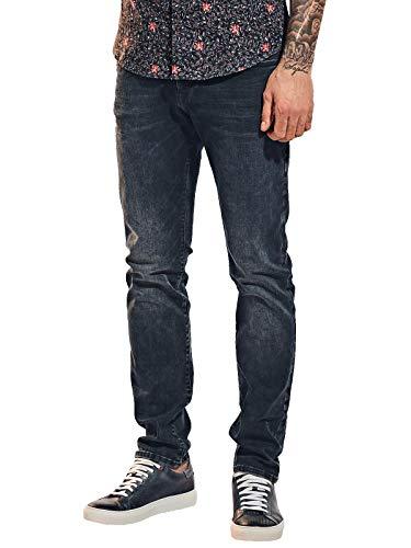 emilio adani Herren 5-Pocket-Jeans mit Superstretch, 31622, Blau in Größe 31/34