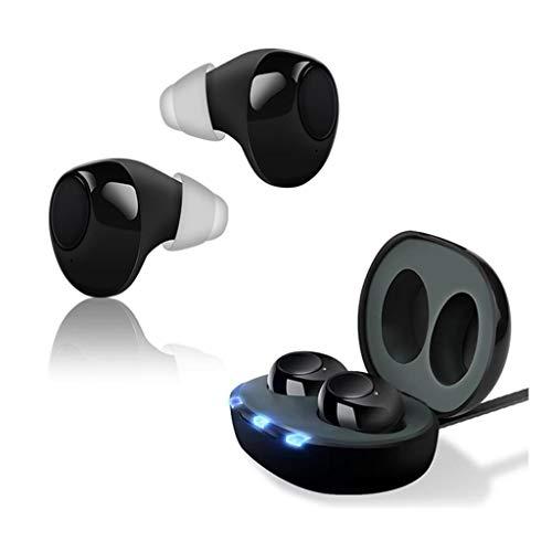 Geluidsversterkers, 2 gehoorapparaten, 1 USB opladen geval, FDA-certificering, helder geluid, geschikt for mensen met gehoorproblemen, Bluetooth verschijning
