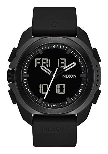 NIXON Ripley A1267 - Black PU Analog Digital Watch