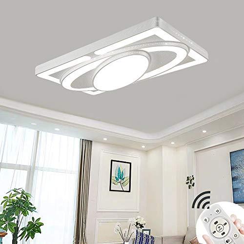 78W LED Deckenlampe Kreative Deckenleuchte Raumschiff Energiesparlampe Für Schlafzimmerlampe Wohnzimmerleuchte Küchen Balkon Flur (78W-Dimmbar 3000-6500K)
