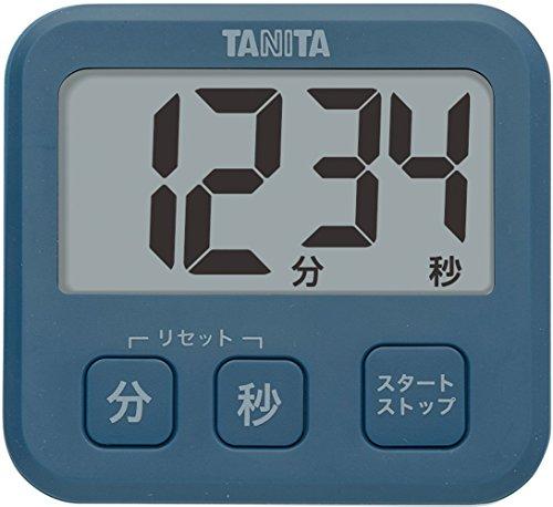 タニタ キッチン タイマー マグネット付き 大画面 薄型 ブルー TD-408 BL