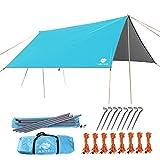 Anyoo Ripstop Rain Tarp Parasol Compact Léger Abri Étanche pour Camping Randonnée Backpacking Picnic