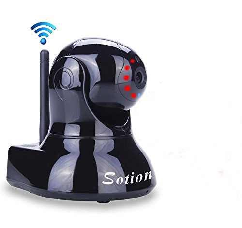 Sotion Video Baby Monitor, HD Wireless Pet Camera with Two Way Audio and Night Vision for Home/Indoor Security, Internet IP Surveillance WiFi Camera System with Motion Detection, Pan and Tilt