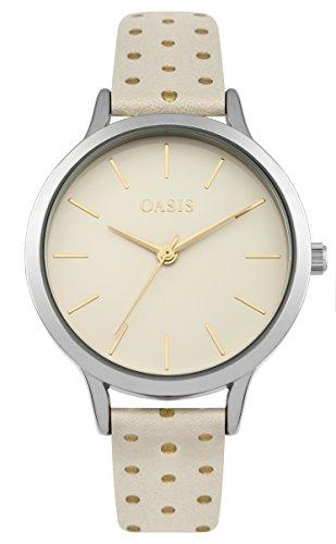Oasis Damen Datum klassisch Quarz Uhr mit PU Armband B1601
