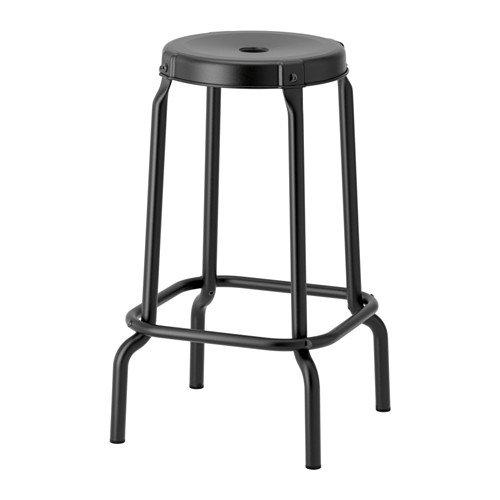 IKEA RASKOG - Taburete de bar (63 cm), color negro