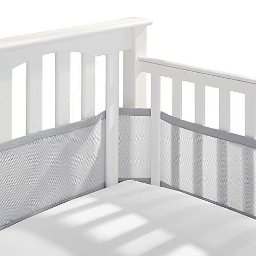 Kinderbett Leitplanke, Bettumrandung Babybett Lang Nestchen Umrandungen Mesh (470 * 30cm)
