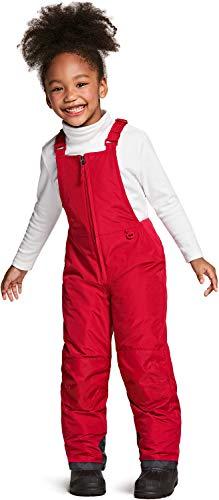 TSLA Kids Little Boys Girls Baby Winter Snow Bibs, Waterproof Insulated Snowboard Overalls, Ripstop Ski Pants, Snow Overall(bko65) - Red, 4T_[3-4Y]