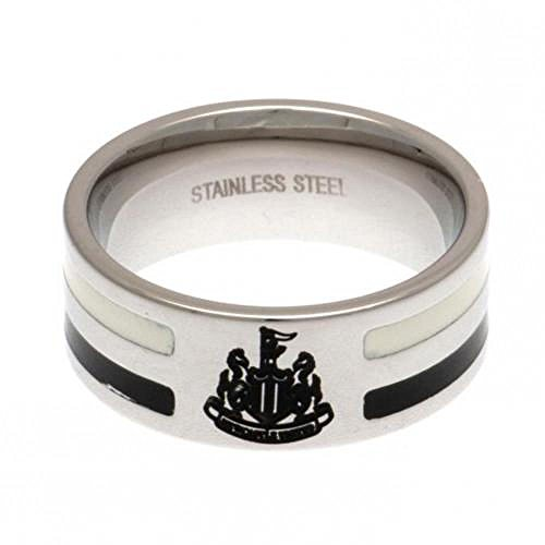 Oficial Newcastle United FC acero inoxidable color raya anillo (pequea)