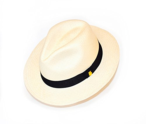 La Marqueza Hats Original Panamahut aus Montecristi Superfino, Strohhut Hut Sonnenhut Large (60 cm), Natur