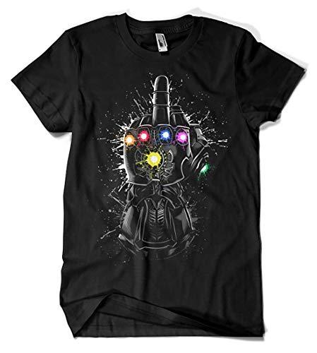 Camisetas La Colmena 4066-Thanos Infinite Fuck (albertocubatas) Negro, L