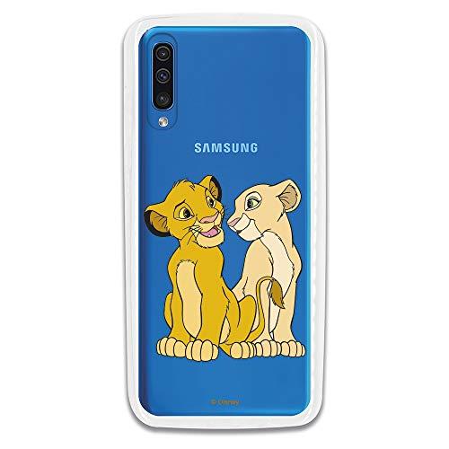 Coque pour Samsung Galaxy A70 Officielle de El Rey León Simba y Nala Silueta pour protégez Votre Mobile. Carcasa pour Samsung de silicona Flexible Con Licencia Officielle de Disney.
