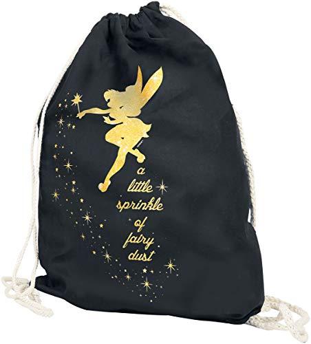 Peter Pan Campanilla - Fairy Dust Unisex Bolsa Deporte Negro, 100% algodón,