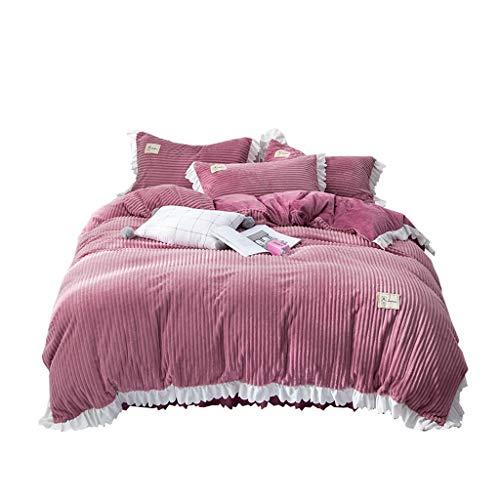 XXT Modestars Vierteiliger Bett-Rock, Bettdecke, Bett-Rock-Bett-Abdeckungs-Staubschutz, nach Hause gefalteter dreidimensionaler Bett-Rock Textil (Size : 2.0m*2.2m)