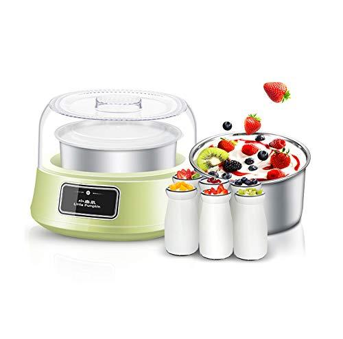 Zrf Joghurt Maker Joghurtmacher Joghurtbereiter Joghurt-Bereiter ohne Strom 1.2L Hausgemachte Familie Automatische Kleine Selbstgemachte Multifunktions-Mini-Tasse mit 6 Gläsern