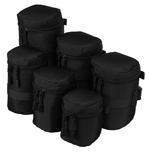 Nylon linshållare väska objektivväska förvaring med bälte #6 D110xH230 mm LC7416