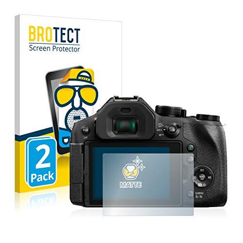 BROTECT 2X Entspiegelungs-Schutzfolie kompatibel mit Panasonic Lumix DMC-FZ300 Bildschirmschutz-Folie Matt, Anti-Reflex, Anti-Fingerprint