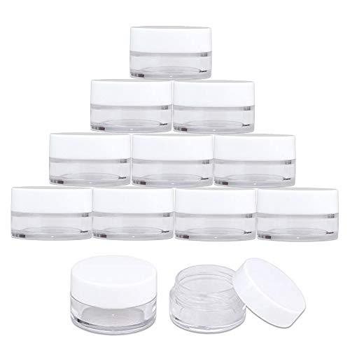 Contenants Cosmétiques - INTVN 30g / 30ml 12 Pièces Empty Plastique Jars Cosmétiques avec Effacer Couvercles pour les Crèmes / Sample / Slime / Glitter Stockage