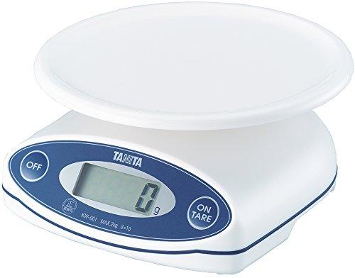 タニタ クッキングスケール キッチン はかり 料理 防水 日本製 デジタル 2kg 1g単位 ホワイト KW-001 WH