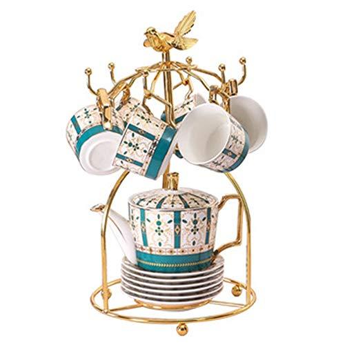 Buy Tea set European High-end Glazed Porcelain Coffee Cup Set Fashion Creative Afternoon Tea Set Is ...