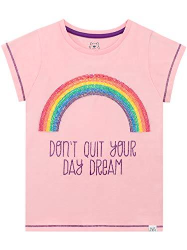 Harry Bear Camiseta de Manga Corta para niñas Arcoíris Rosa 5-6 Años