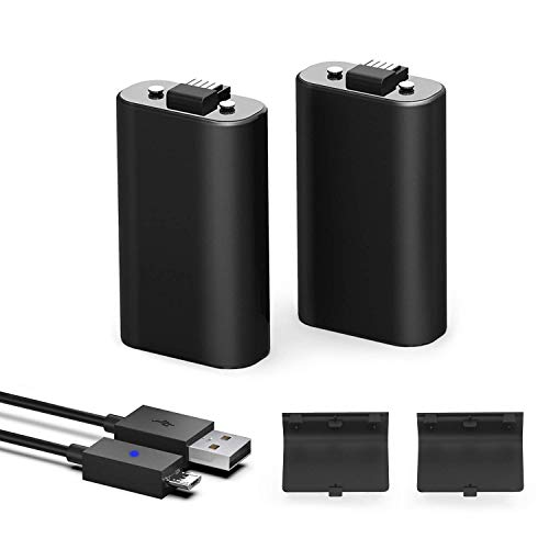 xbox-one-controller-battery-pack-1200mah-ni-mh-rechargeable-battery-2-pack-for-xbox-one-xbox-one-x-xbox-one-s-wireless-controller-with-5ft-micro-usb-charging-cable-black