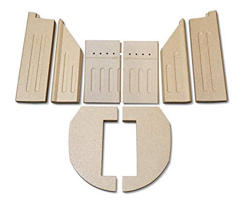 Feuerraumauskleidung für Aduro 9.1 Kaminöfen - Vermiculite - 8-teilig