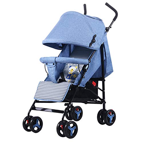 Fantastic Deal! Baby Carriage Foldable Trolley Can Sit and Lie Down Summer Ventilation Built-in Density Board Protect The Spine