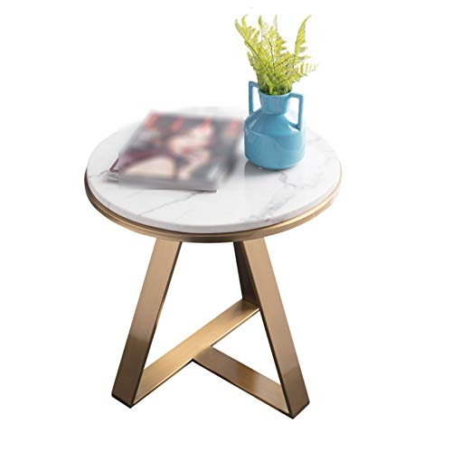 A-Yan-Q-Home Office Furniture Balcony Coffee Table, Single Layer Metal Round Side Table Lounge Living Room Bedroom Sofa Table Hotel Bedside Table Pedestal Tables (Color : A, Size : 50 * 50 * 40CM)