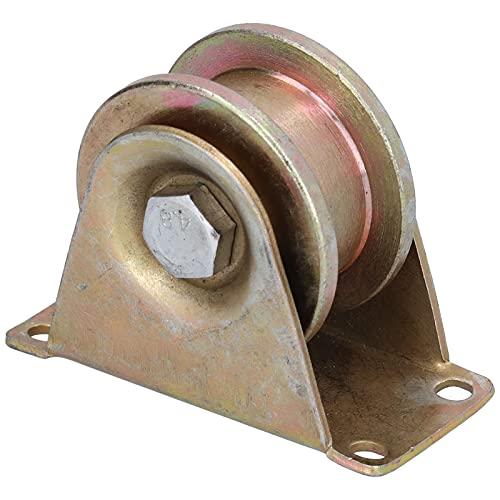 Polea guía, rueda ranurada Larga vida útil Mayor resistencia a la carga Durable para puerta móvil para rueda guía de cable